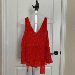 Zara beautiful pleated top new with tag